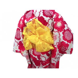 子供兵児帯 羅織り金魚 黄色|hinoyajp2000