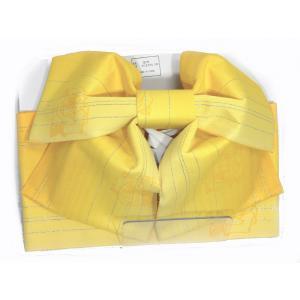 浴衣用 結び帯 作り帯 花柄黄色 ぼかし|hinoyajp2000