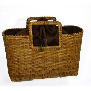 カゴバッグ 天然素材 夏用バッグ 浴衣トート ラタン製 大型|hinoyajp2000