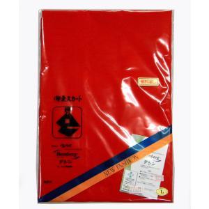 東スカート 赤 ベンベルグ デシン M/L 旭化成キュプラ 裾除け|hinoyajp2000