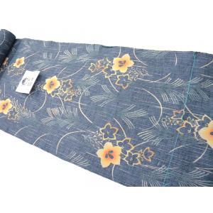 竺仙浴衣(ちくせん)綿紬本染浴衣 桔梗30-411 綿つむぎ浴衣反物|hinoyajp2000