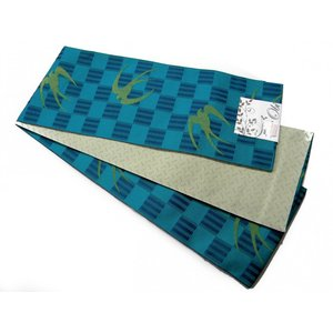 半巾帯 小袋帯 両面長尺細帯 つばめ柄|hinoyajp2000