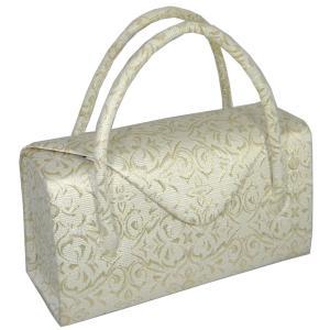 礼装用 和装バッグ 帯地つづれ金地 利休バッグ かぶせ 日本製|hinoyajp2000