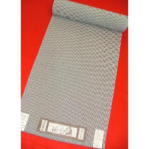 木綿ちりめん 白黒絣9204 木綿の着物 ギンガムチェック|hinoyajp2000