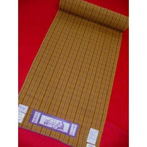 木綿ちりめん 木綿の着物 黄絣9303|hinoyajp2000