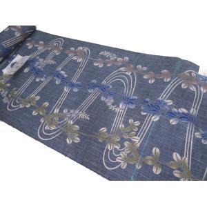 竺仙浴衣(ちくせん江戸ゆかた) 綿紬浴衣反物 流水に萩417|hinoyajp2000