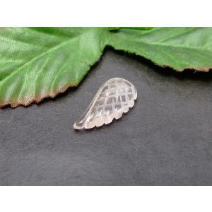 天然石 パワーストーン  53818  AAA 12×25mm ローズクォーツ 羽彫 天使の羽 送料無料 hinryo