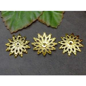 天然石 パワーストーン 54281 座金  18mm 約40個セット ゴールド 金 パーツ 在庫処分 送料無料有  アクセサリー作りに|hinryo