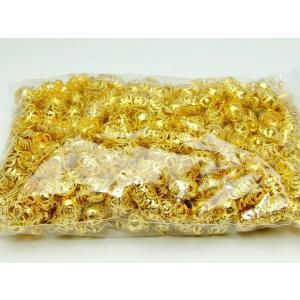 天然石 パワーストーン 福袋191 座金  8mm 約1000個セット ゴールド 金 パーツ 在庫処分 送料無料有  アクセサリー作りに|hinryo