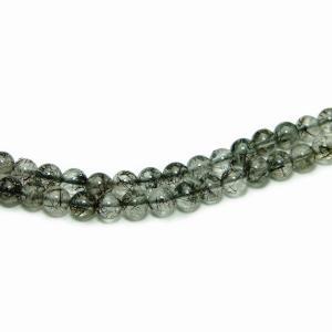 天然石 パワーストーン g3-1562C  1粒売り 5A 4mm ブラック ルチル クォーツ 針水晶 送料無料有 ブラジル産 ポイント消化|hinryo