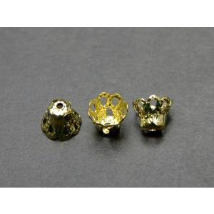 天然石 パワーストーン P1184C 座金  6mm×5mm 100個セット ゴールド 金 パーツ 在庫処分   送料無料有  アクセサリー作りに|hinryo