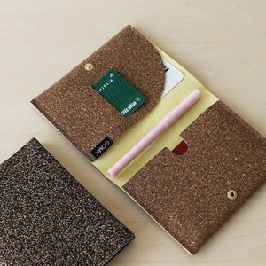GOMK パスポートケース 旅券 トラベル コルク お薬手帳|hint