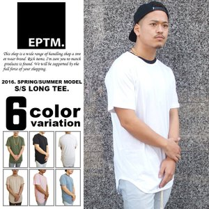 ロング丈 Tシャツ メンズ 半袖 無地 ロングTシャツ EPTM エピトミ 新作