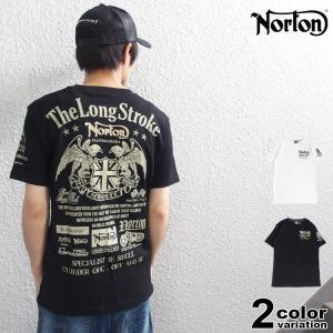 [ブランド]NORTON(ノートン) [アイテム]半袖 Tシャツ [カラー]ブラック・ホワイト [素...