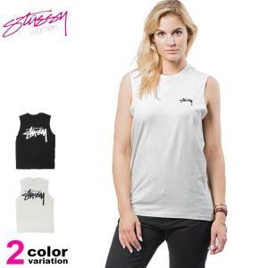 メール便送料270円 ステューシー レディース Stussy Women タンクトップ Tシャツ ノースリーブ Stock Raw Muscle Tee