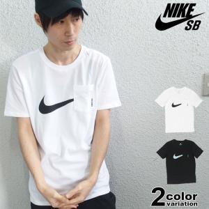 NIKE SB ナイキ Tシャツ 半袖 Tシャツ メンズ レディース 黒 ポケットTシャツ スウッシ...