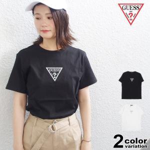 GUESS ゲス Tシャツ 半袖 メンズ レディース キュービック ロゴ CUBIC TRIANGL...