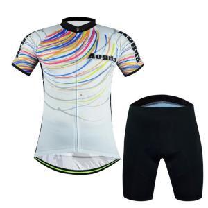 サイクルジャージ 半袖 夏用 サイクルウエア 自転車 サイクリング ジャージ サイクリング用 ロードバイク ウェア 上下 レディース メンズ 吸汗速乾