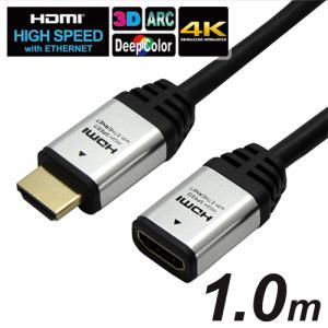 型番HAFM10-553SV HDMI延長ケーブル HDMIタイプAオス−HDMIタイプAメス シルバー 1.0m|hipregio-yh