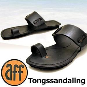 (42)26.0cm限定サンダル メンズ メンズサンダル トングサンダル 本革 aff アフleather sandal|hips