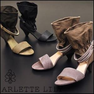 ブーツサンダル キャンバス×アンティークレザーのベルテッドブーツサンダルArlette Lily アルレットリリー|hips