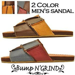 Bump N' GRIND バンプアンドグラインド メンズ サンダル 本革 サンダル メンズ靴|hips
