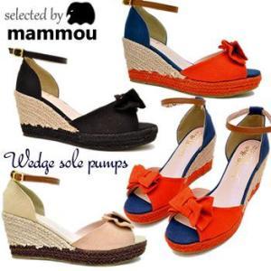 mammou select ウェッジソール アンクルストラップオープントゥサンダル レディース 靴|hips