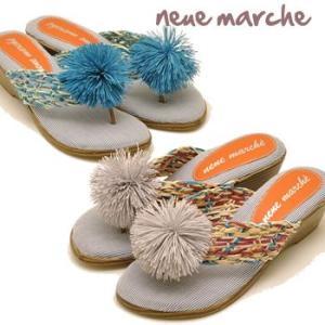 靴 レディース トングサンダル ウエッジソールサンダル neue marche ノイエマルシェ|hips