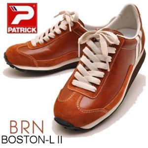 PATRICK BOSTON-L II  BRN パトリック ボストン レザー ブラウン メンズスニーカー レザースニーカー|hips