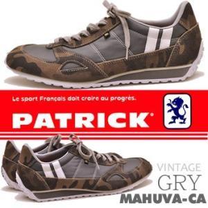 PATRICK MAHUVA-CA GRY パトリック マフーバ・カムフラージュ メンズ レザースニーカー|hips