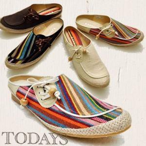 靴 レディース クロッグ サンダル エスニックナチュラルクロッグ hips