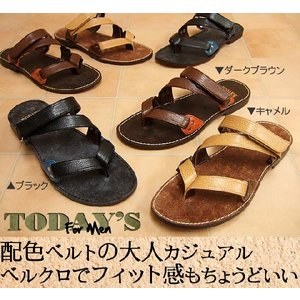 ベルクロトングサンダル メンズ靴|hips