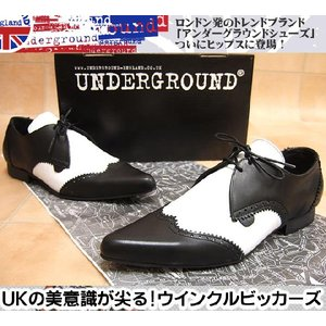 UNDERGROUND アンダーグラウンド UKロック!ウイングチップウィンクルピッカーズ メンズ靴 hips