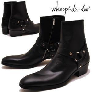whoop'-de-doo' フープディドゥ ブーツ ショートブーツ ウェスタンブーツ リングブーツ ヒールブーツ 本革|hips