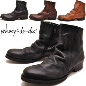 whoop'-de-doo' フープディドゥ ブーツ ショートブーツ 本革|hips