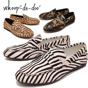 whoop'-de-doo' フープディドゥ whoop'EE' スリッポンシューズ本革ハラコスリッポンシューズ ローファー カジュアルシューズ ドライビングシューズ メンズ 靴|hips