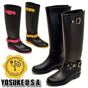 YOSUKE U.S.A ヨースケ ブーツ ラバーブーツ レインブーツ 晴雨兼用 ガーデニング レディース 靴|hips