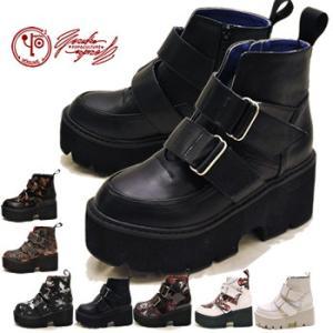 厚底ブーツ レディース ショート YOSUKE ヨースケ 靴 ※(予約)は3営業日内に発送|hips