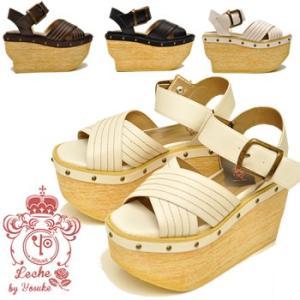 YOSUKE U.S.A ヨースケ 厚底 サンダル プラットホームサンダル ウェッジ サンダル ストラップサンダルレディース 靴|hips