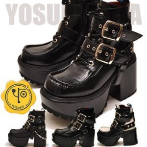 YOSUKE U.S.A ヨースケ 厚底 ブーツ エンジニアブーツ ヒールブーツ ゴスロリ コスプレ ブーツ ※(予約)とあるものは3営業日内に発送|hips
