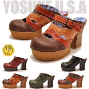 YOSUKE U.S.A ヨースケ 厚底 サンダル ミュール 厚底 サボサンダル おでこ靴 サボ ヒール サボ バックベルト  ※(予約)とあるものは3営業日内に発送|hips