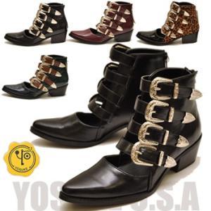 YOSUKE U.S.A ヨースケ ブーツ ポインテッドトゥ ショートブーツ ※(予約)は3営業日内に発送|hips