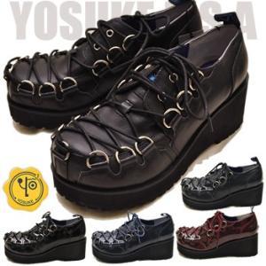 厚底 ラバーソールシューズ レディース レースアップ YOSUKE ヨースケ 靴 ※(予約)は3営業日内に発送|hips