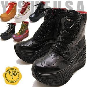 厚底スニーカー レディース ハイカット YOSUKE ヨースケ 靴 ※(予約)は3営業日内に発送|hips