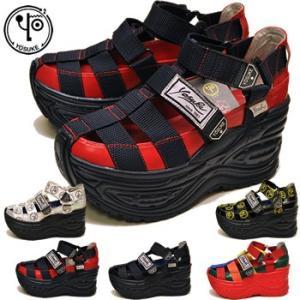 厚底フラットサンダル レディース YOSUKE ヨースケ 靴 ※(予約)は3営業日内に発送 hips