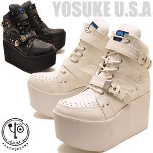 YOSUKE U.S.A ヨースケ 厚底ブーツ メンズ  レースアップブーツ ※(予約)は3営業日内に発送 hips