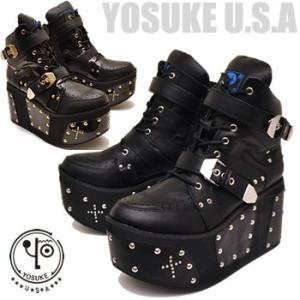 厚底ブーツ メンズ ヒールブーツ YOSUKE U.S.A ヨースケ hips