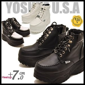 YOSUKE U.S.A ヨースケ メンズ 厚底スニーカーブーツ ハイカット  ※(予約)は3営業日内に発送 hips