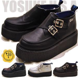 厚底 ラバーソールシューズ ハイカット レディース YOSUKE ヨースケ 靴 ※(予約)は3営業日内に発送 hips