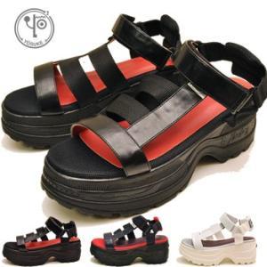 YOSUKE ヨースケ 靴 厚底サンダル ベルクロサンダル レディース ※(予約)は3営業日内に発送|hips